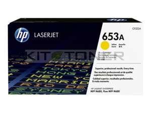 HP CF322A - Cartouche de toner jaune d'origine 653A