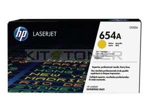HP CF332A - Cartouche de toner jaune d'origine 654A