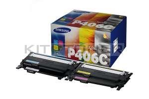 Samsung CLTP406C - Pack de 4 toners pour Samsung