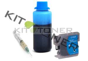 Brother LC1240C - Kit cartouche rechargeable compatible cyan