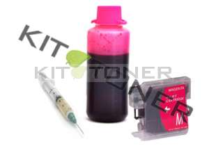 Brother LC980M - Kit cartouche rechargeable compatible magenta
