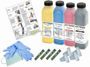 Xerox 106R01594, 106R01596, 106R01595, 106R01597 - Kit de recharge toner compatible 4 couleurs