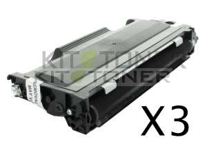 Brother TN2005 - Pack de 3 cartouches de toner compatibles