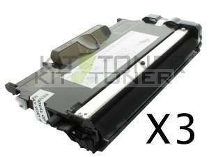 Brother TN2010 - Pack de 3 cartouches de toner compatibles