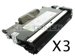 Brother TN2220 - Pack de 3 cartouches de toner compatibles