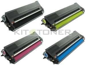 Brother TN900C, TN900Y, TN900M, TN900K - Pack de 4 toners compatibles 4 couleurs