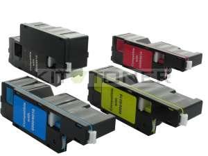 Dell 593BBLN, 593BBLL, 593BBLZ, 593BBLV - Pack de 4 toners compatibles 4 couleurs