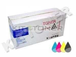 Epson S050100, S050098, S050097, S050099 - Pack de 4 toners compatibles (Noir, Cyan, Magenta, Jaune)
