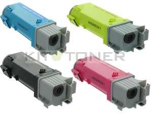 Epson S050630, S050628, S050627, S050629 - Pack de 4 toners compatibles 4 couleurs