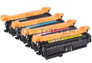 HP CE400X, CE403A, CE402A, CE401A - Pack de 4 toners compatibles 4 couleurs 507A