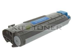 Oki 43381907 - Cartouche toner compatible Cyan