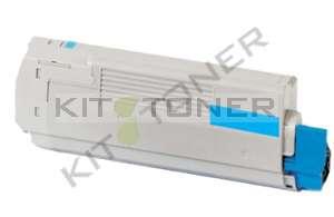Oki 43872307 - Cartouche toner compatible Cyan