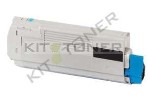 Oki 43865708 - Cartouche toner compatible Noir