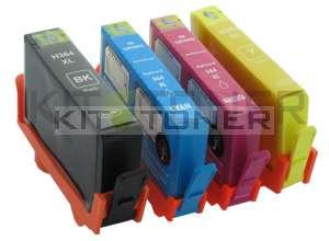HP SD534EE - Pack de 4 cartouches d'encre compatibles HP 364