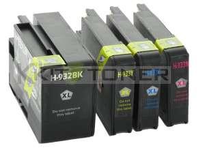 HP CN053AE, CN054AE, CN055AE, CN056AE - Pack de 4 cartouches d'encre compatibles 933XL