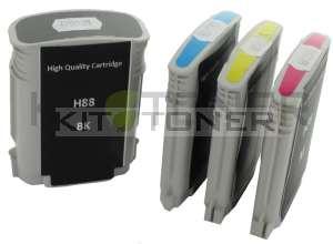 HP C9396AE, C9392AE, C9393AE, C9391AE - Pack de 4 cartouches compatibles