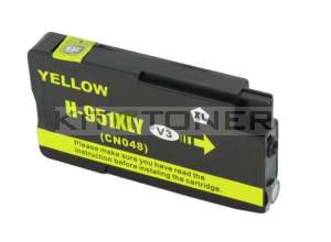 Cartouche HP 951 - Cartouche d'encre compatible jaune CN048AE