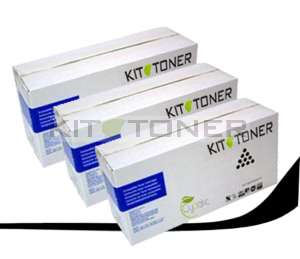 Kyocera TK340 - Pack de 3 cartouches de toner compatibles noir