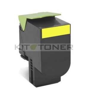 Lexmark 70C2HY0 - Cartouche toner compatible jaune
