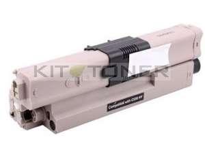 Oki 44469804 - Cartouche de toner compatible noir haute capacité