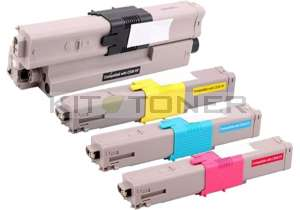 Oki 44469724, 44469722, 44469723, 44469804 - Pack de 4 toners compatibles 4 couleurs haute capacité