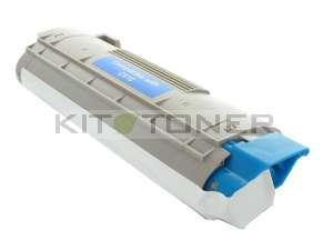Oki 44315307 - Cartouche de toner cyan compatible