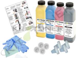 Brother TN135C, TN135K, TN135Y, TN135M - Kit de recharge toner compatible 4 couleurs