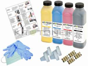 Epson S050556, S050554, S050555, S050557 - Kit de recharge toner compatible 4 couleurs