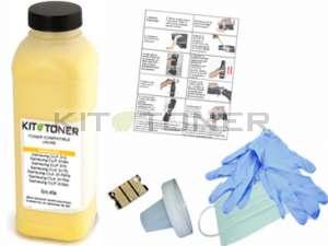 Epson S050554 - Kit de recharge toner compatible jaune