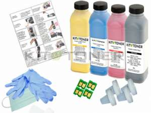HP CC530A, CC533A, CC532A, CC531A - Kit de recharge toner compatible 4 couleurs 304A