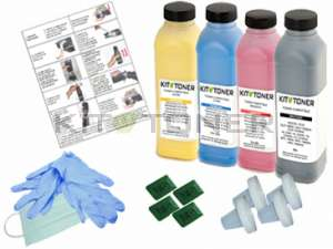 Oki 44318608, 44318606, 44318605, 44318607 - Kit de recharge toner compatible 4 couleurs