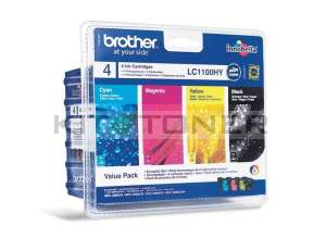 Brother LC1100HYVALBP - Pack de 4 cartouches d'encre LC1100HYVALBP
