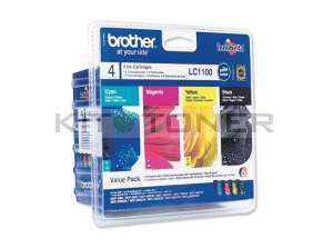 Brother LC1100VALBP - Pack de 4 cartouches d'encre LC1100VALBP
