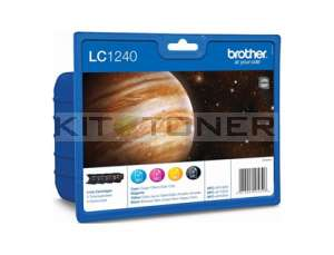 Brother LC1240VALBP - Pack de 4 cartouches d'encre LC1240VALBP