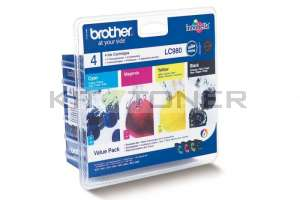 Brother LC980VALBP - Pack de 4 cartouches d'encre LC980VALBP