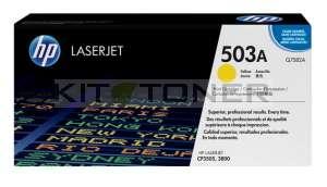 HP Q7582A - Cartouche de toner d'origine jaune