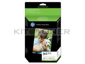 HP Q7966EE - ValuePack de 6 cartouches + 150 feuilles 10x15cm 363