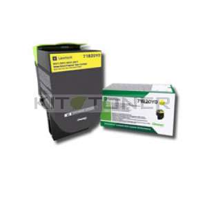 Toner Lexmark 71B20Y0 - Cartouche de toner jaune original