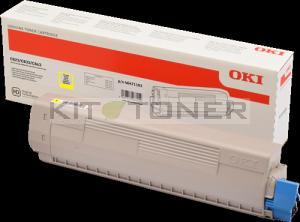 Cartouche de toner jaune d'origine Oki 46471101 pour imprimante OKI C843DN