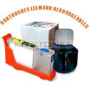 Lexmark 100 - Kit cartouche rechargeable compatible cyan