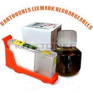 Lexmark 100 - Kit cartouche rechargeable compatible jaune