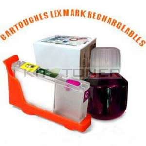 Lexmark 100 - Kit cartouche rechargeable compatible magenta
