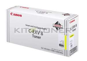 Canon 7626A002 - Cartouche toner d'origine jaune CEXV8