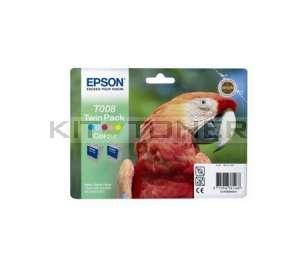 Epson C13T008403 - Pack combo de 2 cartouches d'encre couleur de marque T008403