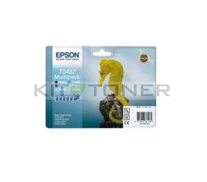 Epson C13T048740 - Pack 6 cartouches d'encre Epson T0487