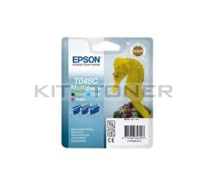 Epson C13T048C40 - Pack 3 cartouches encre Epson T048C
