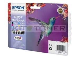 Epson C13T08074011 - Pack de 6 cartouches d'encre Epson Claria T0807