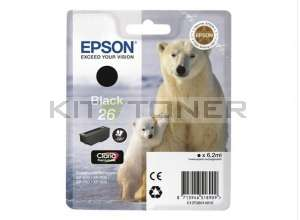 Epson C13T26014010 - Cartouche d'encre noire d'origine T2601