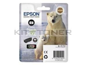 Epson C13T26314010 - Cartouche d'encre noire d'origine T2631