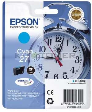 Epson C13T27024010 - Cartouche d'encre cyan d'origine Epson 27